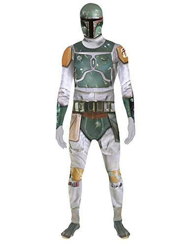 STAR WARS BOBA FETT Digital Morphsuit Lizenz Ware Grigio Verde
