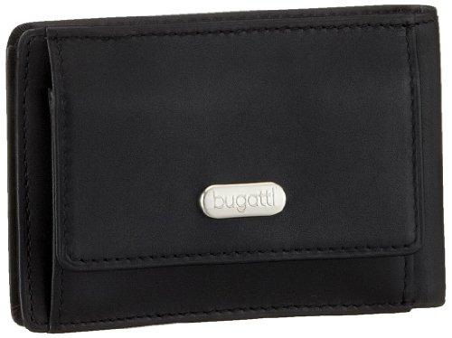 Bugatti Basic Line Minibörse 49212001, Unisex-Erwachsene Geldbörsen, Schwarz (Schwarz schwarz), 10x7x1 cm (B x H x T) Schwarz (Schwarz schwarz)