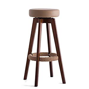 Stools Qiangzi Modern Wooden Chairs Solid Wood Bar High