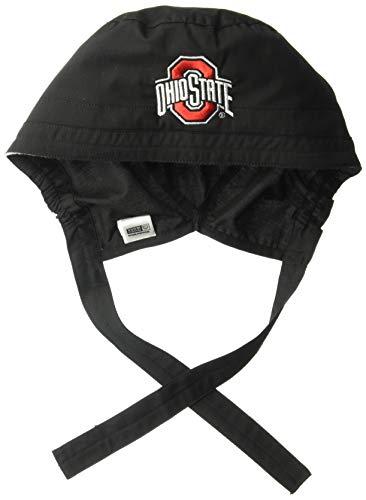 WonderWork Damen Ohio State University Scrub Cap Kappe, schwarz, Einheitsgröße (Damen Ohio State Hat)