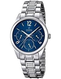 Festina F16869/4 - Reloj para mujeres, correa de acero inoxidable color plateado