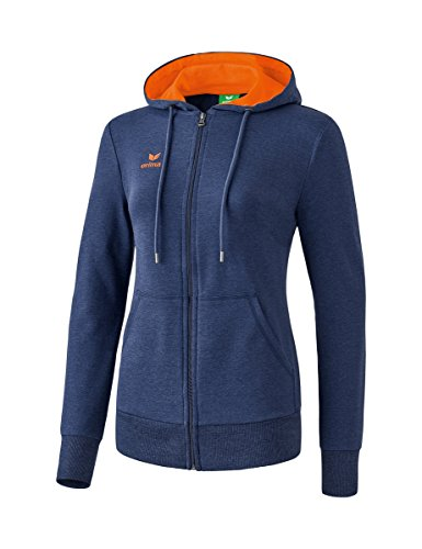 Erima Graffic 5-c Basics Veste à Capuche Femme New Navy/Orange Fire