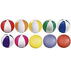eBuyGB - Pack de 10 Bolas de Colores inflables para Juegos de Piscina, Multicolor, 22 cm