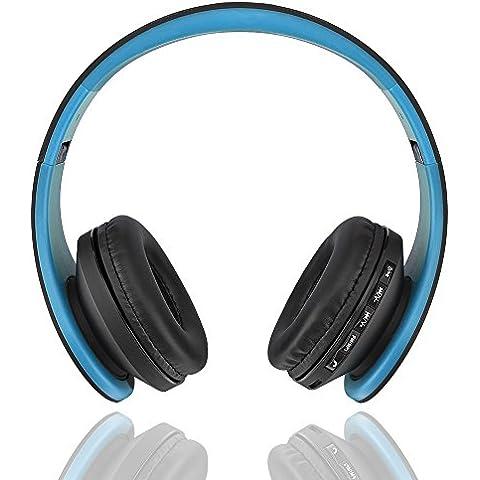 Artans £ ¨ TM) di alta qualità Andoer LH-811digitale 4in 1Stereo Bluetooth 3.0+ EDR Cuffia Wireless Headset Musica Auricolare Con Micphone, Blue