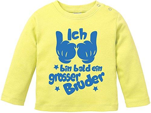 2004 Gelben T-shirt (EZYshirt® Ich bin bald ein grosser Bruder Baby T-Shirt Longsleeve)