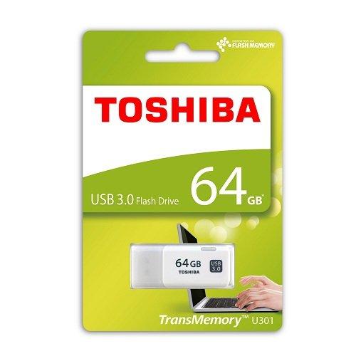 Toshiba TransMemory U301 USB 3.0 64GB Pen Drive (White)