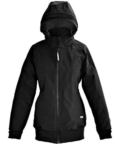 manduca by MaM Softshell Jacket > Black / RockGrey < Winter-Tragejacke mit Babyeinsatz für Rücken und Bauch, Umstandsjacke, Wasserdicht & Komplett gefüttert (Fleece), Abnehmbare Kapuze (Schwarz / XL)