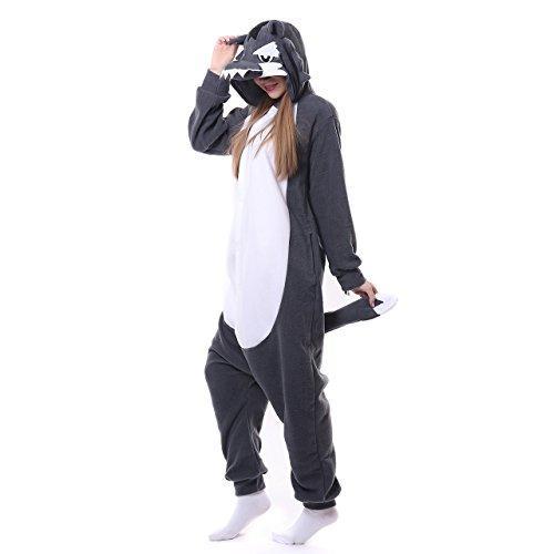Erwachsene Tierkostüme Wolf Pyjama Halloween Cosplay Kostüme ()