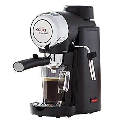 Cooks Professional Espresso Coffee Machine with Milk Frothing Arm 800W by Clifford James