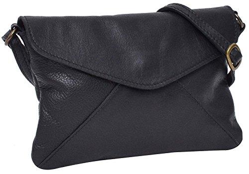 Umhängetasche aus Leder Gusti Leder Studio \'\'Karisma\'\' Handtasche Damen Schwarz 2H83-48-6