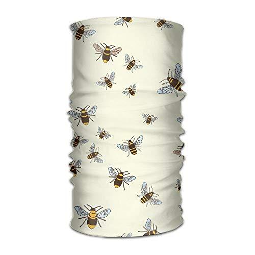 Mann Bumblebee Kostüm - Rexing 16 Ways to Wear Headwear Bumblebee Pattern Outdoors Daily Headwear Including Headband,Neck Gaiter,Bandana