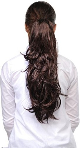 BigWave Clutch Hair Extension Brown Color Artificial Hair Extension
