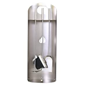 Kamino-Flam – Juego para chimenea (3 unidades), Utensilios para chimenea (escobilla, recogedor, atizador), Accesorios…