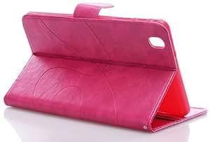 Huaxia Datacom Coque ultra fin en cuir PU à rabat avec porte-cartes et support intégré pour Samsung Galaxy Tab Pro 8.4 T320 Film-Rose