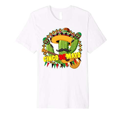 Cinco De Mayo Party Shirt, kaktus Schnurrbart mexikanischen -