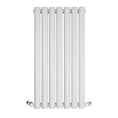 BestBathrooms Design-Heizkörper Horizontal Weiß - 600 x 415 mm - Premium Paneelheizkörper für Zentralheizung - Einlagig - Perfekt für Küche, Bad & Wohnzi mmer -
