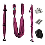 Aerial Yoga Hängematte Set, Elastische Tuch Sling Swing Anti-Schwerkraft Yoga Hammock Fitness für Pilates Gymnastik