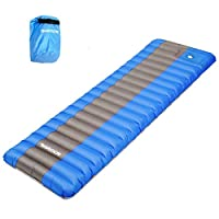 SGODDE Inflating Sleeping Pad Camping Mattress, Inflatable Sleeping Mat Ultra Thick 12 cm Compact & Waterproof | Durable… 14