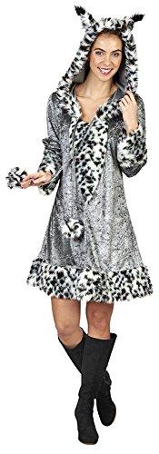 Katze Kostüm Für Erwachsene Plüsch - Plüsch-Kostüm-Luchs in grau/weiß/schwarz (36/38)