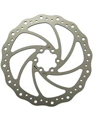 MSC Bikes Steel 140 mm. 1.8 mm - Disco de freno de ciclismo, color acero