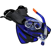 Ultrasport kit de plongée Adulte Bahamas - Masque, Tuba, Palmes et Sac de Transport