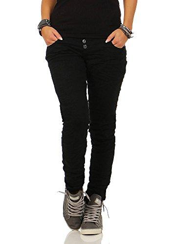 Rock Angel Damen Slim Leg Stretch Jeans Brook LRA-063/LRA-065 black XS (Denim-stretch-rock)