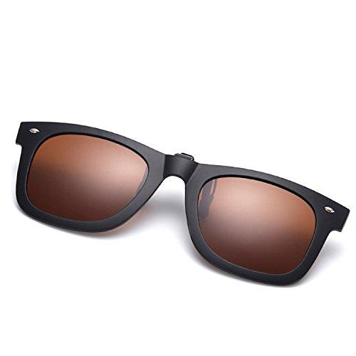 Ruanyi Erwachsene Sonnenbrillen Clips, polarisierter Clip auf kurzsichtigen Tag und Nacht Fahren Vision Objektiv Anti-UVA Anti-UV Radfahren Reiten Sonnenbrillen Clip für Männer Frauen