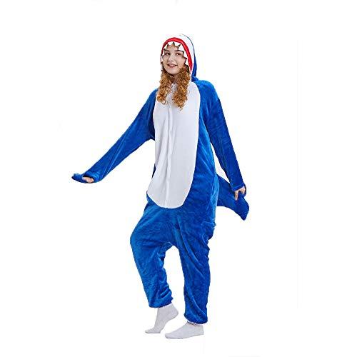 (NN IKEA Schlafanzug Tierkostüme Pyjamas Cartoon Cosplay Weihnachten Karneval,Blue,L)