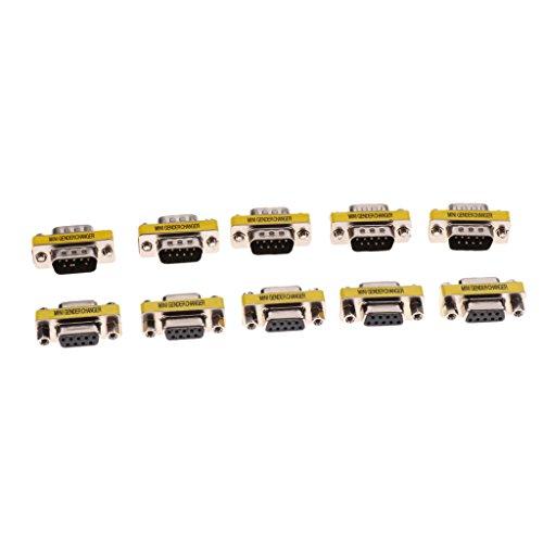 D DOLITY 5 Paar Serieller Stecker RS232 Stecker Typ 9-Pol. Db9 Männlich/Weiblich Kupplung Adapter Gender Changer Adapter (Db9 Gender Changer)