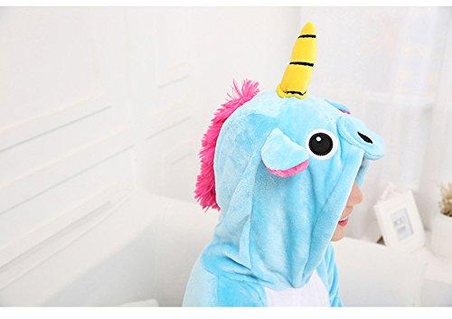 Tonwhar - Pigiama o costume Cosplay da Kigurumi, unisex Blue Pegasus