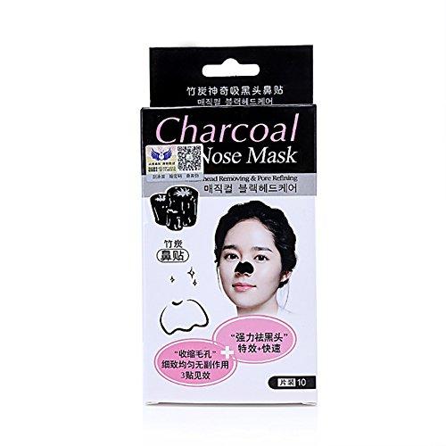 Etosell Profonde Nettoyant Blackhead Remover Purifiant Peel Bambou Charbon Masque 10Pc