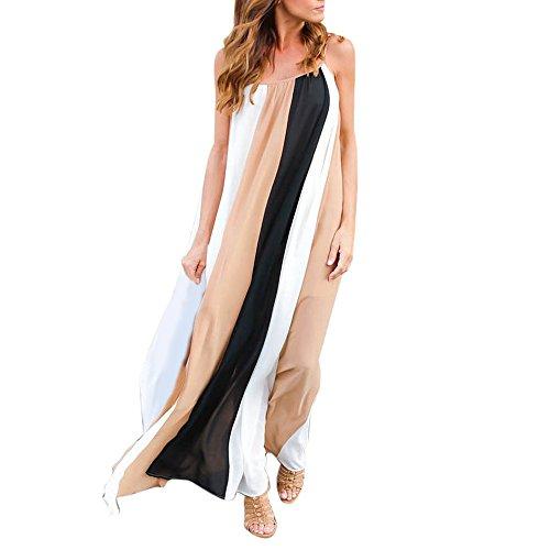 Vestido para mujer sexy de gasa, suelto, para verano, impresión de playa,...
