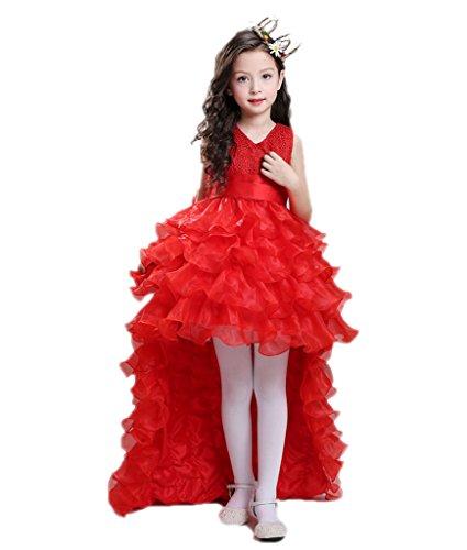 Braut Prinzessin Kostüm Mädchen ärmellose Knielänge Cocktailkleider BIGTREE (Prinzessin Kostüme Kinder Für Braut)