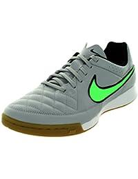 Nike Tiempo Genio Leather IC Hallen Fussballschuhe wolf grey-green strike-black-black - 44