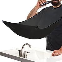 Barba Delantal,JUSTIME Babero para barba con ventosa,Recortes de pelo y barba Catcher Grooming Cape deje que su baño de mantener limpio(Negro)