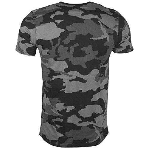 New Era Herren Oberteile/T-Shirt BNG Golden State Warriors Graphic Grey Camo