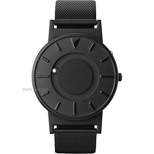 Eone Bradley Negro Malla Pulsera tectile Moderno Reloj