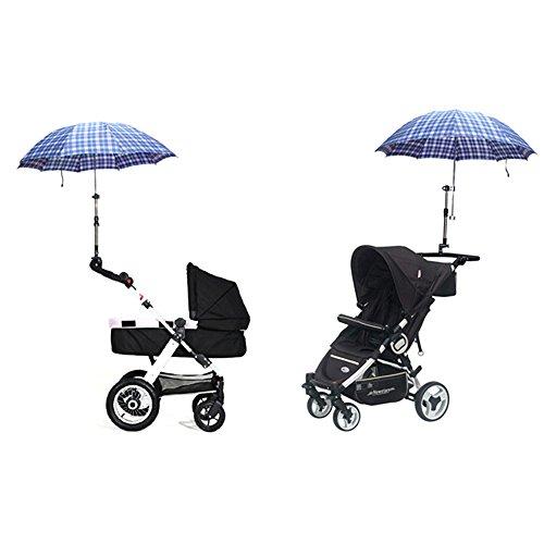 iKulilky Kinderwagen Schirmhalter UV Schutz Clip-On Schirmständer Halter Einstellbare ausziehbarer Sonnensegel Sonnenschirm Halter Regenschirmhalter
