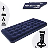 NHR Bestway Airbeds Flocked Aeroluxe Quick Inflation Indoor Air Mattress with Inflation Pump