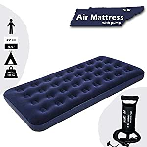 buy nhr bestway airbeds flocked aeroluxe quick inflation indoor air mattress with inflation pump. Black Bedroom Furniture Sets. Home Design Ideas
