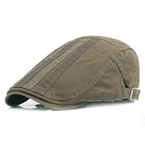 Newsboy Cap Men Women Flat Caps Summer Cotton Beret Outdoors (Army Green) ()