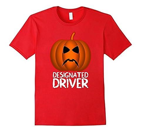 Men's Halloween Pumpkin Head Pumpkinhead Designated Driver T-shirt 3XL Red