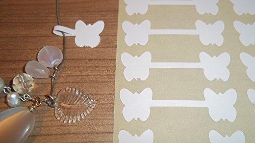 600 Weiß Schmetterling Form Schmuck Preis Sticker Hantelform