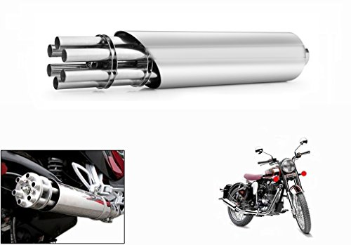 Speedwav Chrome Tail Gunner Sleek Exhaust-Royal Enfield Classic 350