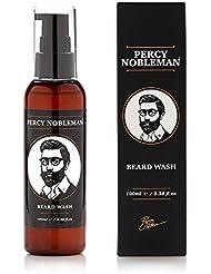 Shampoing pour barbe de Percy Nobleman - Un shampooing et un adoucissant composé à 95 % d'ingrédients naturels Bio