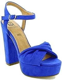 Toocool - Scarpe donna sandali camoscio sintetico tacchi alti Queen Helena  nuove ZM25193 d11402dc517