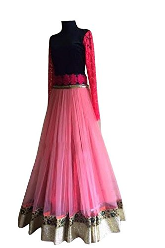 The Diwa Label Multi Color Party Wear Semi-Stitched Heavy French Lehenga Choli...