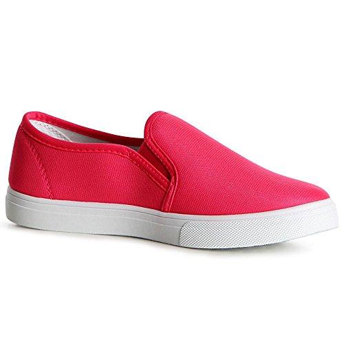 topschuhe24 1116 Damen Slipper Sneaker Ballerina Halbschuhe Pink