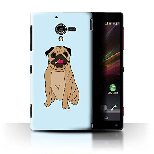 Stuff4 Hülle / Case für Sony Xperia ZL LTE / Glückliches Lächeln Muster / Karikatur Mops Kollektion