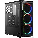 Aerocool SI5200RGB - Scatola PC ATX, pannello laterale, 3 ventole RGB 12cm